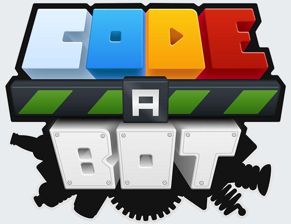 code a bot text logo